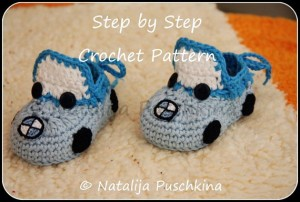 crochet pattern baby booties 39bmw cars39 pdf pattern with 100 photos and diagramm - crochet baby sh-f20416