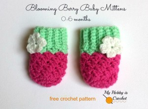 Blooming Berry Baby Mittens - Free Crochet Pattern